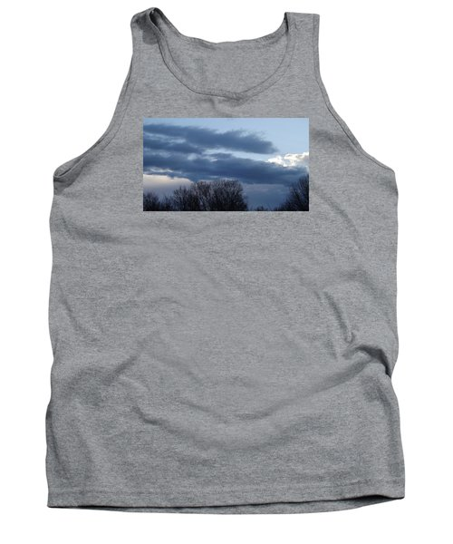 Tank Top featuring the photograph Floating Blue Clouds by Don Koester