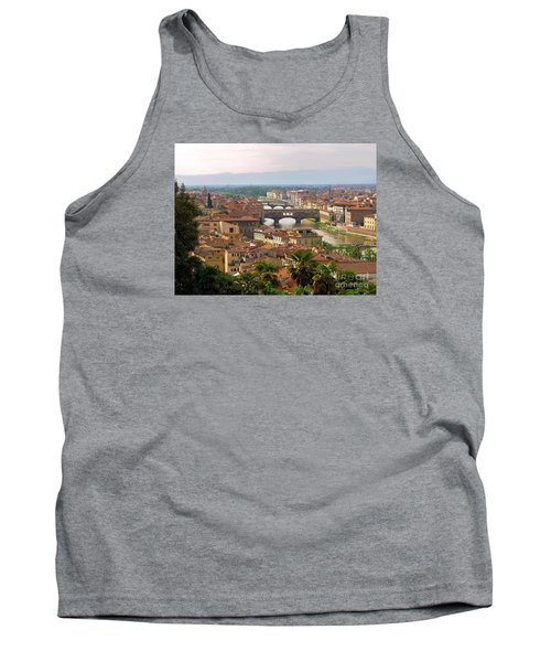 Tank Top featuring the photograph Florence Bridges by Haleh Mahbod