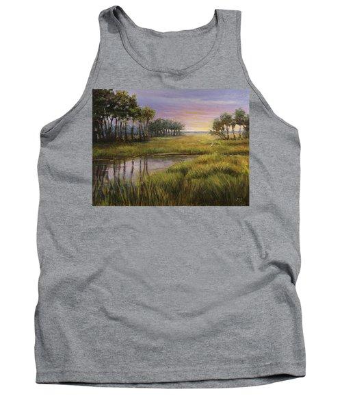 Florida Marsh Sunset Tank Top