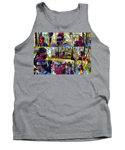 Tank Top featuring the photograph Florida Seminole Indian Warriors Circa 1800s by David Lee Thompson