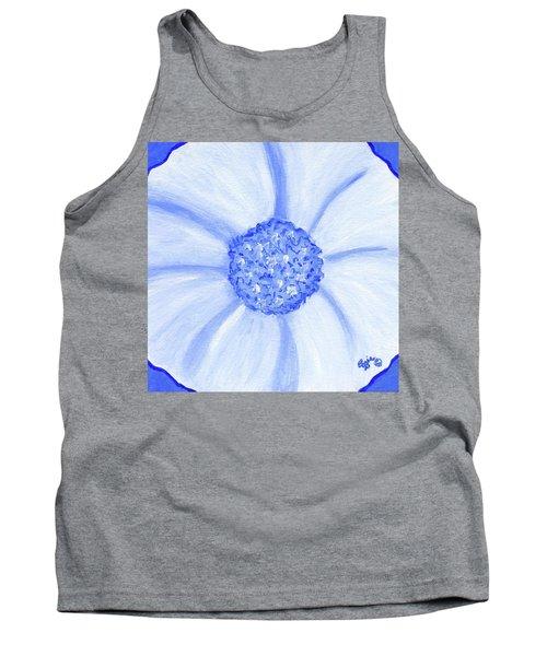 Flower Blue Power Tank Top