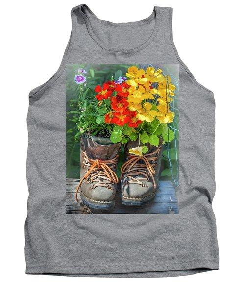 Flower Boots Tank Top