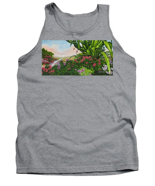 Tank Top featuring the painting Flower Garden Vii by Michael Frank
