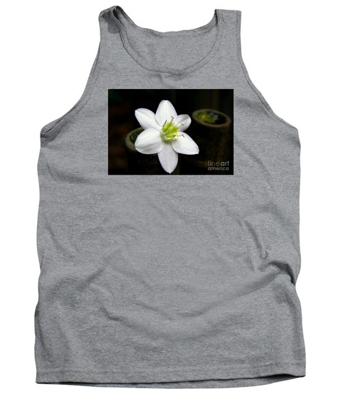 Flower On Bamboo Tank Top by Lisa L Silva