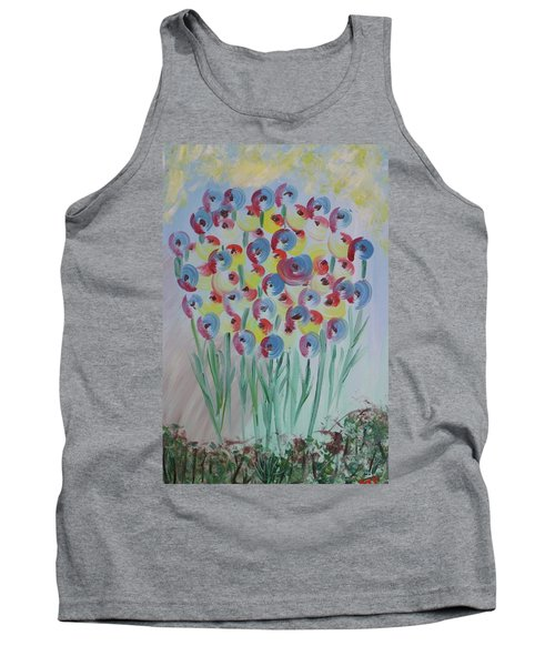 Flower Twists Tank Top by Barbara Yearty