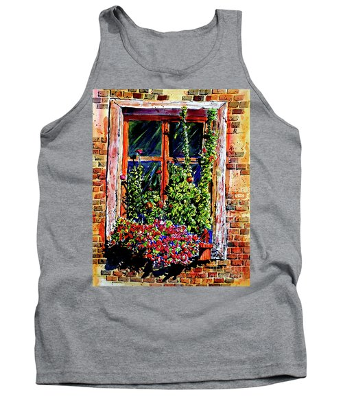 Tank Top featuring the painting Flower Window by Terry Banderas