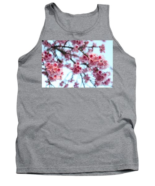 Tank Top featuring the photograph flowering of the almond tree, Jerusalem by Yoel Koskas