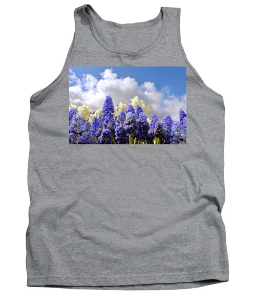 Flowers And Sky Tank Top