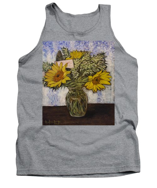 Flowers For Janice Tank Top by Ron Richard Baviello