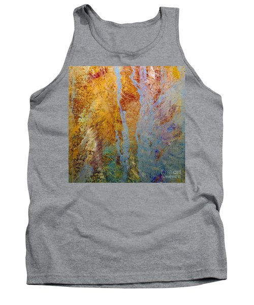 Tank Top featuring the mixed media Fluid by Michael Rock