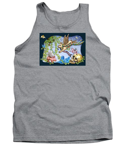 Flying Pig Party 2 Tank Top by Retta Stephenson