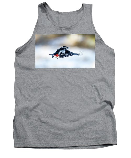 Tank Top featuring the photograph Flying Woodpecker by Torbjorn Swenelius