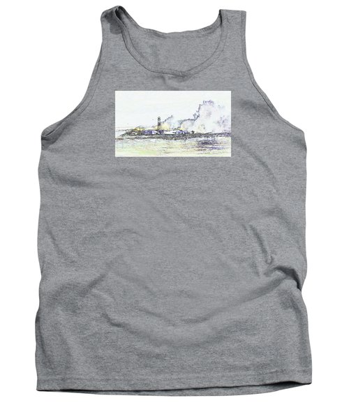 Tank Top featuring the photograph Foamy Sea At The Breakwater by Nareeta Martin