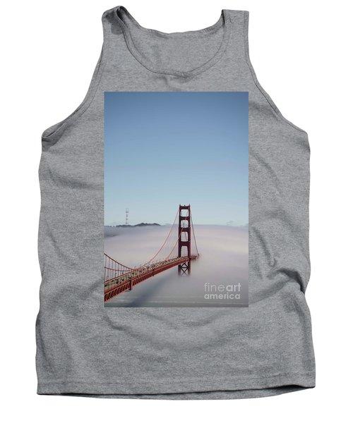 Tank Top featuring the photograph Foggy Golden Gate by David Bearden