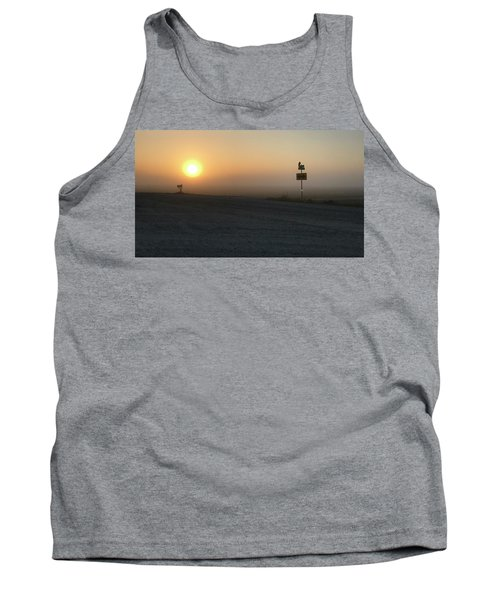 Tank Top featuring the photograph Foggy Hawkeye Sunrise  by Jame Hayes