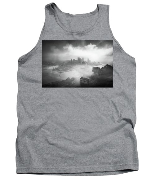 Tank Top featuring the photograph Foggy Pittsburgh  by Emmanuel Panagiotakis