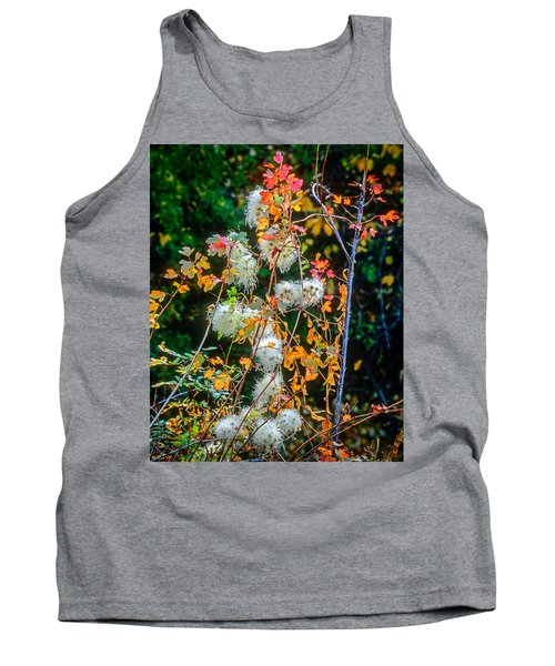 Foliage Twisted Colored Leaves Tank Top