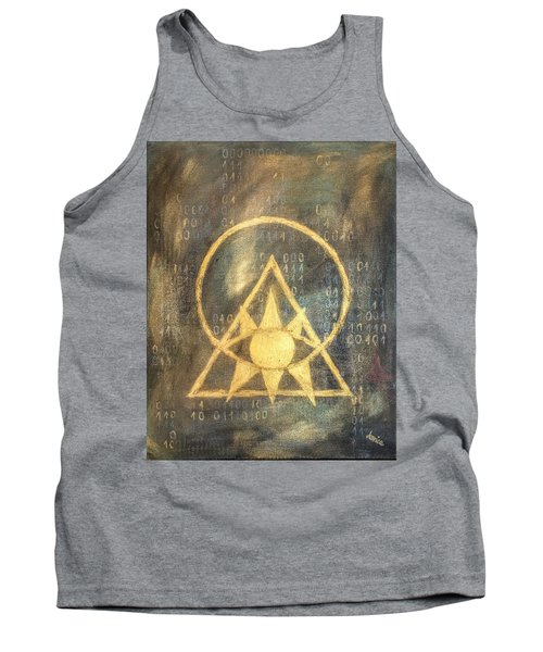 Follow The Light - Illuminati And Binary Tank Top