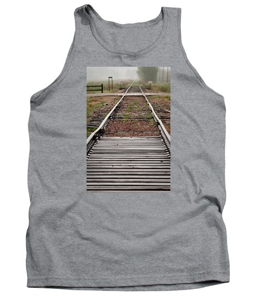 Tank Top featuring the photograph Following The Tracks by Monte Stevens