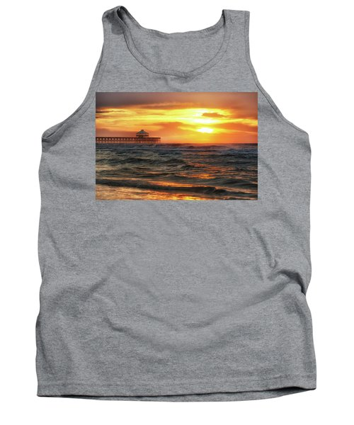 Folly Beach Pier Sunrise Tank Top