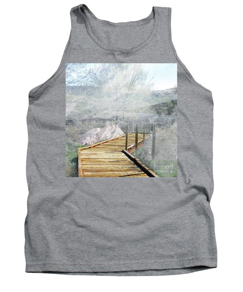 Footbridge In The Clouds Tank Top