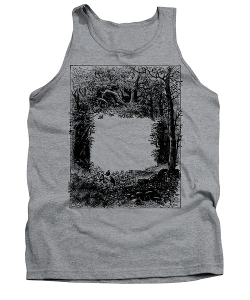 Forest Frame Dictionaryart Trees Ink Artwork  Tank Top
