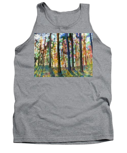 Tank Top featuring the painting Forest Light by Hailey E Herrera