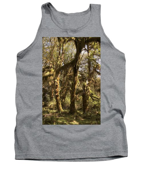 Forest Setting In Hoh Rain Forest Tank Top