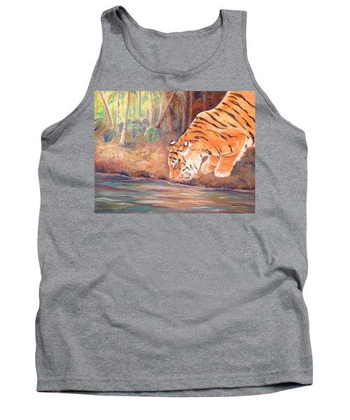 Forest Tiger Tank Top by Elizabeth Lock