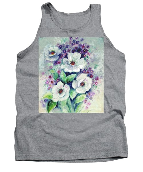 Forget-me-knots And Roses Tank Top
