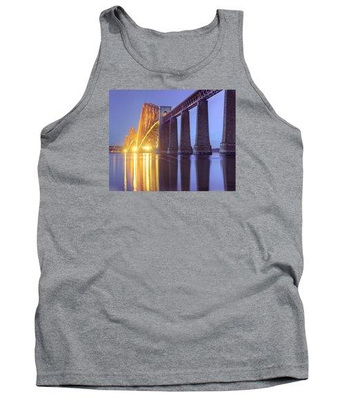 Forth Bridge Twilight Tank Top by Ray Devlin