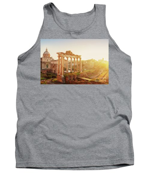 Forum - Roman Ruins In Rome At Sunrise Tank Top by Anastasy Yarmolovich