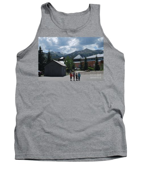 Four Little Children Safe In A Big Beautiful World Telluride Colorado Tank Top