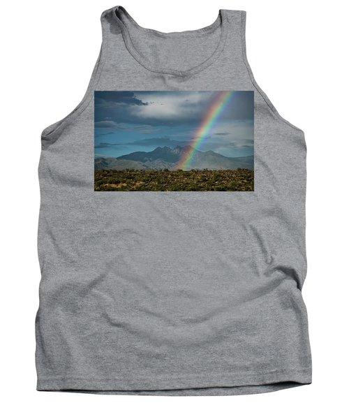 Tank Top featuring the photograph Four Peaks Rainbow  by Saija Lehtonen