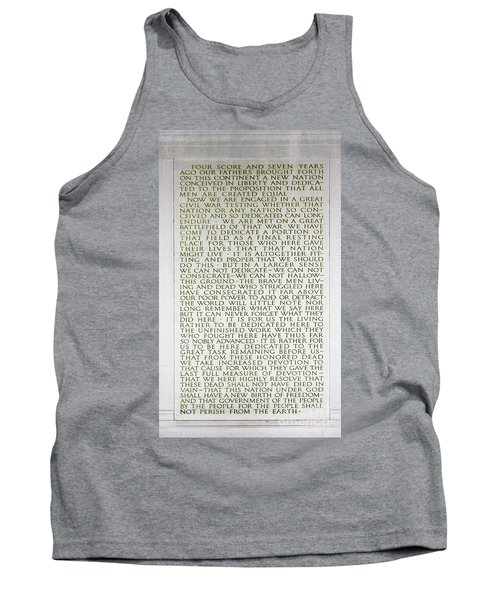 Four Score And Seven Years...... Tank Top by Allen Beatty
