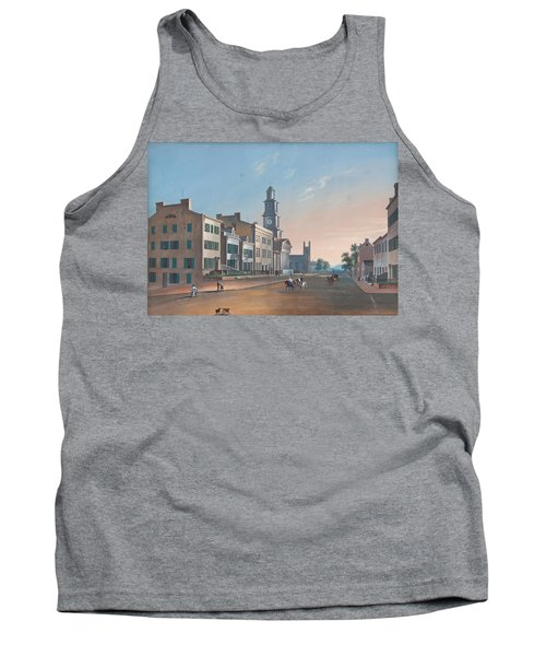 Tank Top featuring the painting Fourth Street. West From Vine by John Caspar Wild