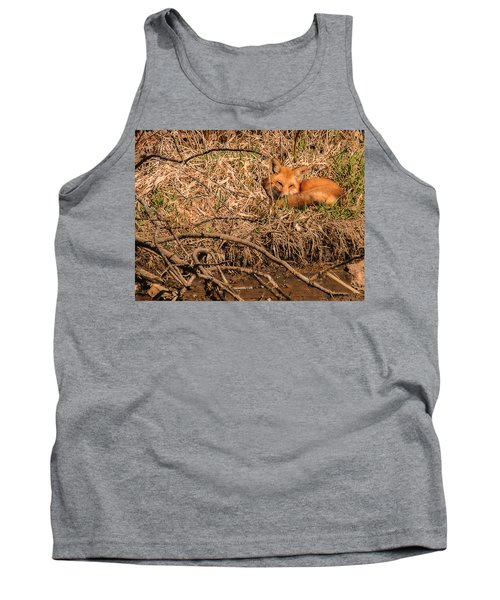 Tank Top featuring the photograph Fox  by Edward Peterson