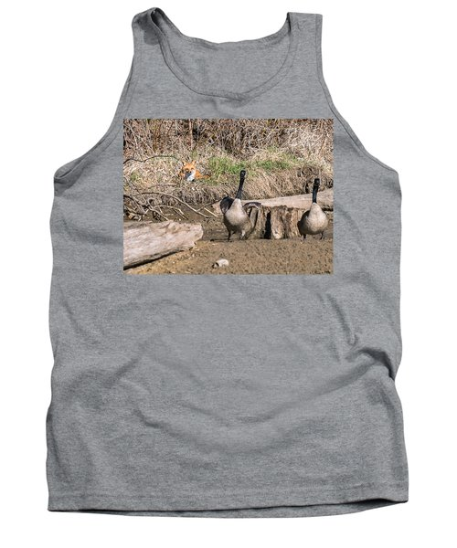 Tank Top featuring the photograph Fox Watch by Edward Peterson