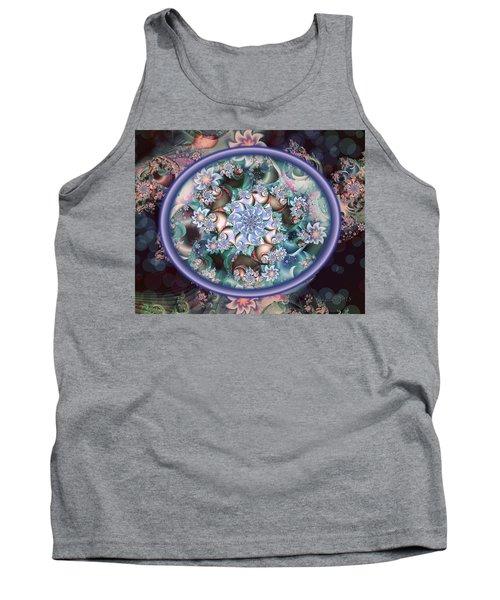 Fractal Embroidery Hoop Tank Top