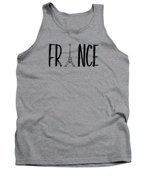 France Typography Panoramic Tank Top