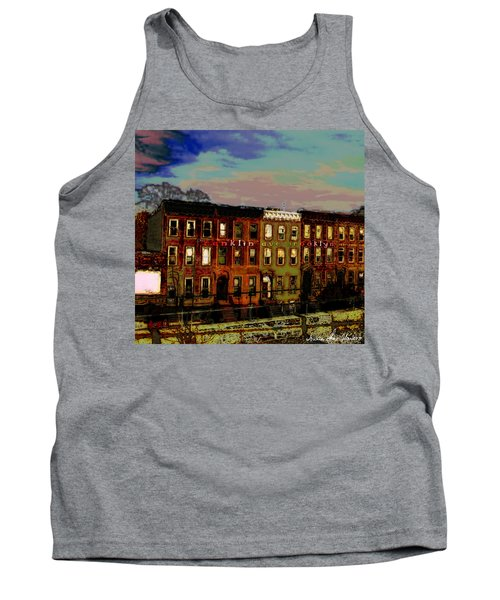 Franklin Ave. Bk Tank Top by Iowan Stone-Flowers