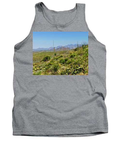 Franklin Mountains State Park Facing North Tank Top by Allen Sheffield