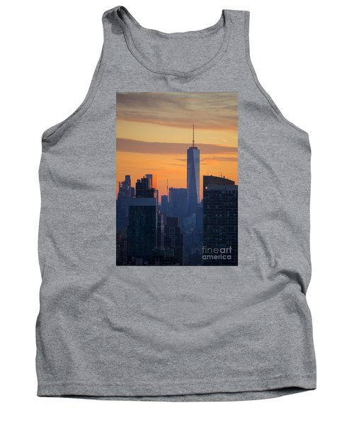 Freedom Tower At Sunset Tank Top