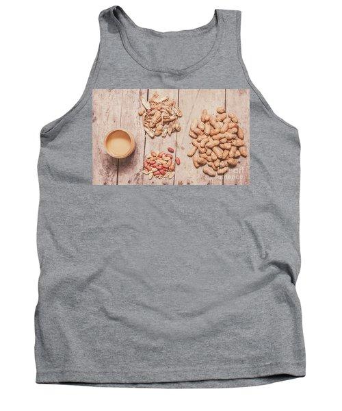Fresh Peanuts, Shells, Raw Nuts And Peanut Butter Tank Top