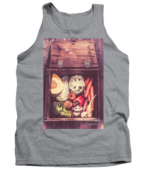 Fresh Vegetables In Wooden Box Tank Top by Jorgo Photography - Wall Art Gallery