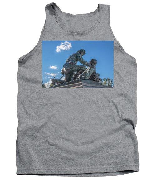 Friend To Friend Monument Gettysburg Tank Top by Randy Steele