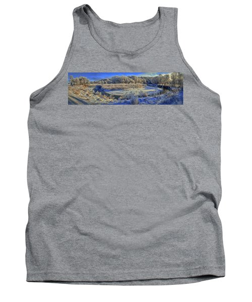 Frost Along The Creek - Panorama Tank Top
