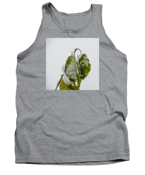 Frosty Green Leaves Tank Top