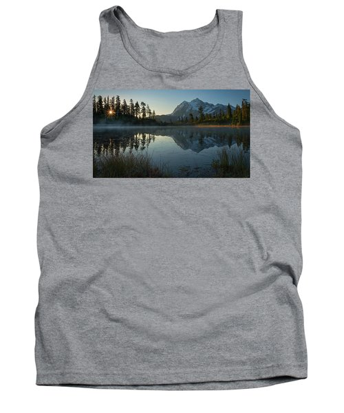 Tank Top featuring the photograph Frosty Picture Lake by Dan Mihai