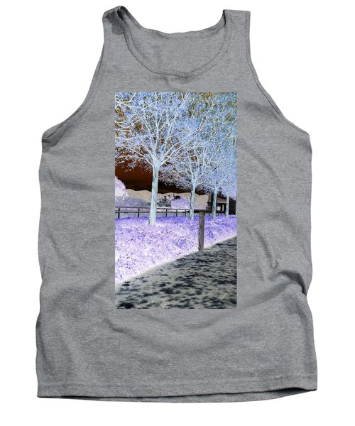 Frosty Trees At The Getty Tank Top